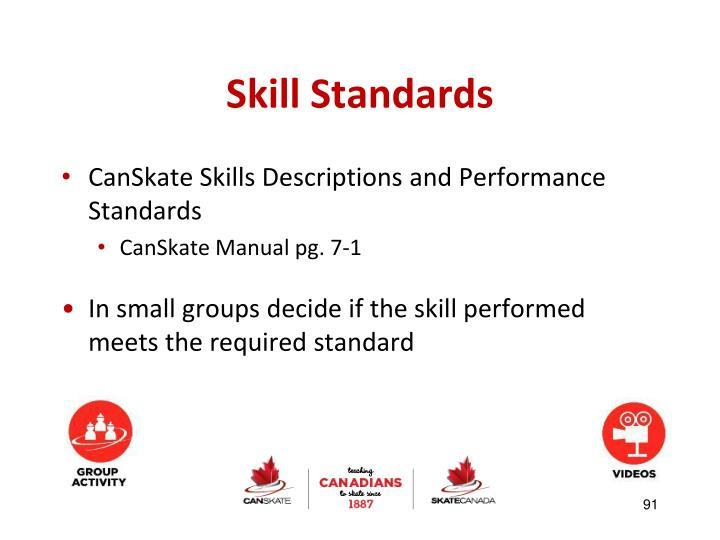 Skill Standards