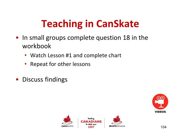 Teaching in CanSkate