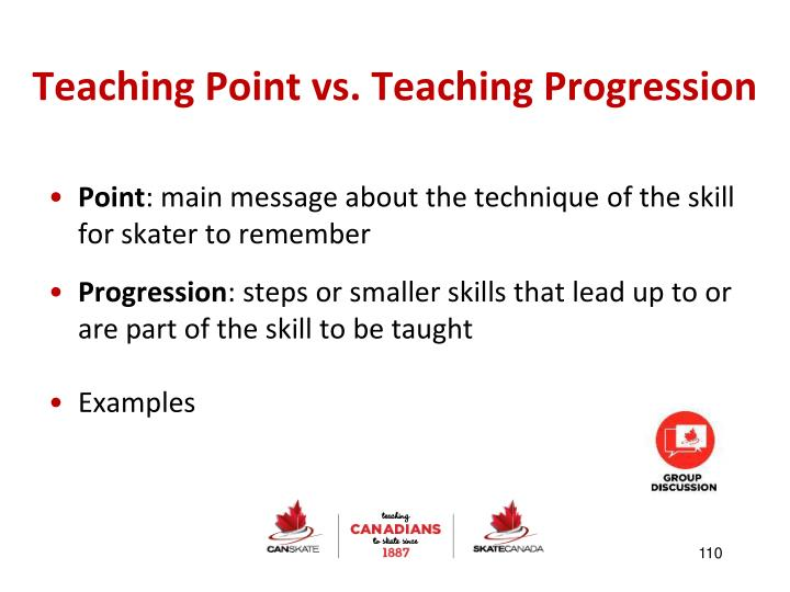 Teaching Point vs. Teaching Progression