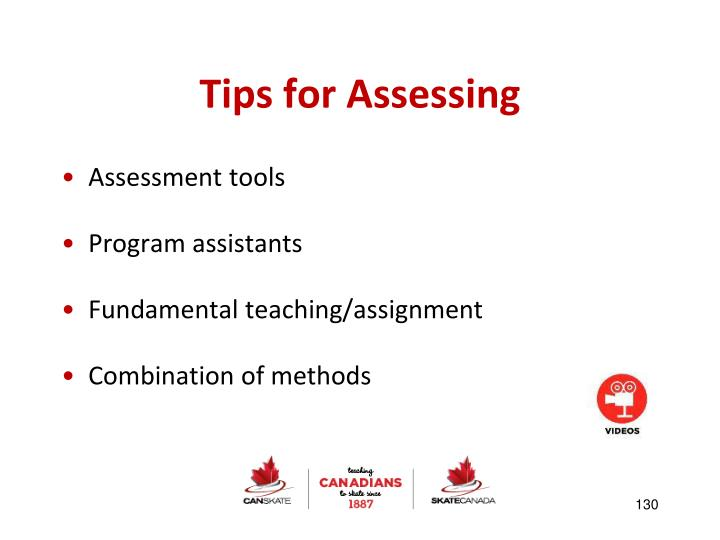 Tips for Assessing