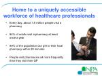 home to a uniquely accessible workforce of healthcare professionals