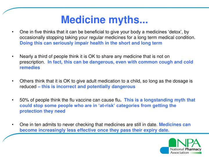 Medicine myths...