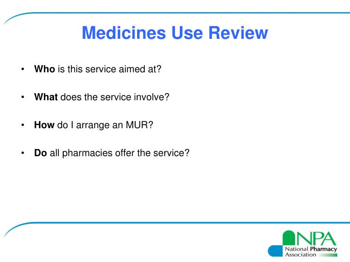 Medicines Use Review