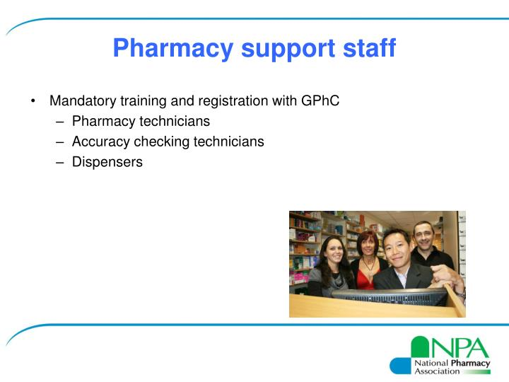 Pharmacy support staff