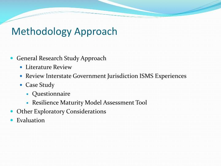 Methodology Approach