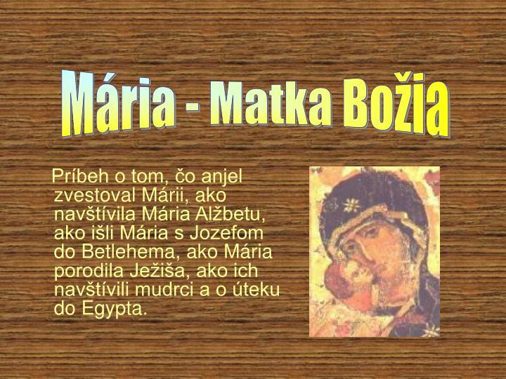 Mária - Matka Božia