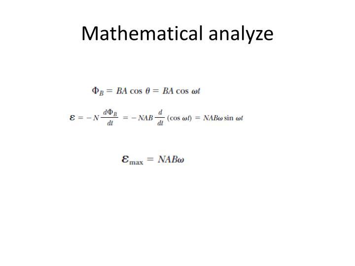 Mathematical analyze