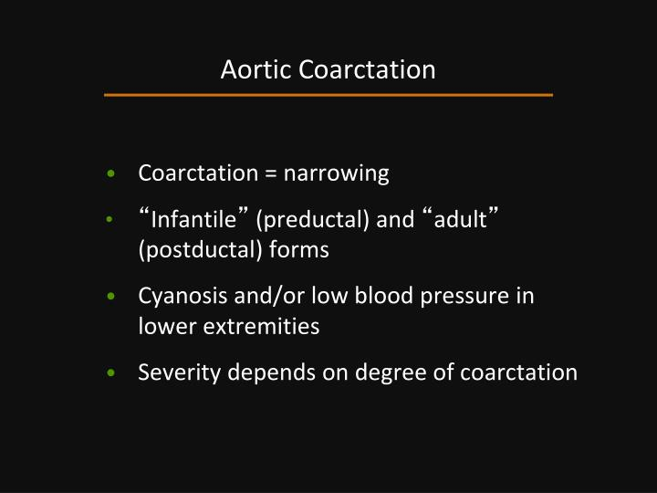 Aortic Coarctation