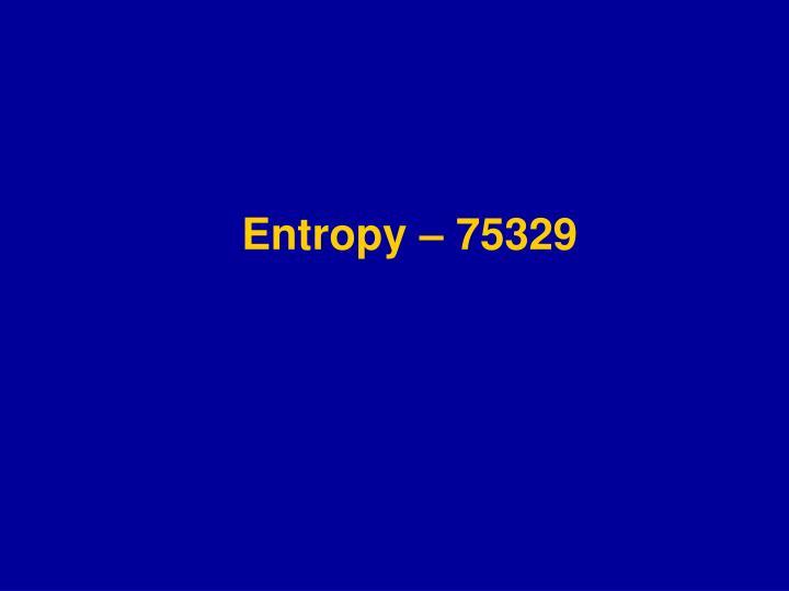 Entropy – 75329
