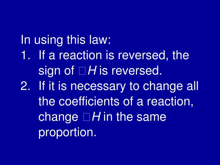 In using this law: