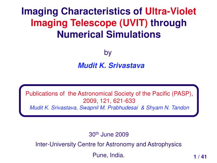 Imaging Characteristics of