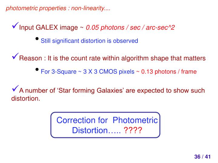 Correction for  Photometric Distortion…..