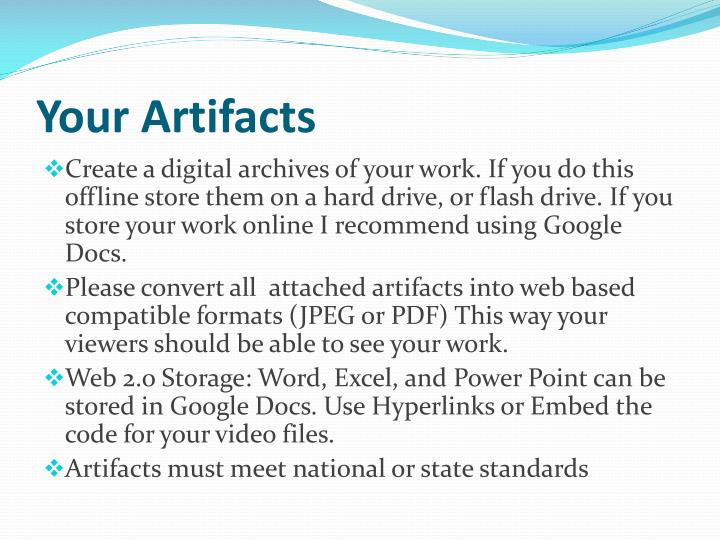 Your Artifacts
