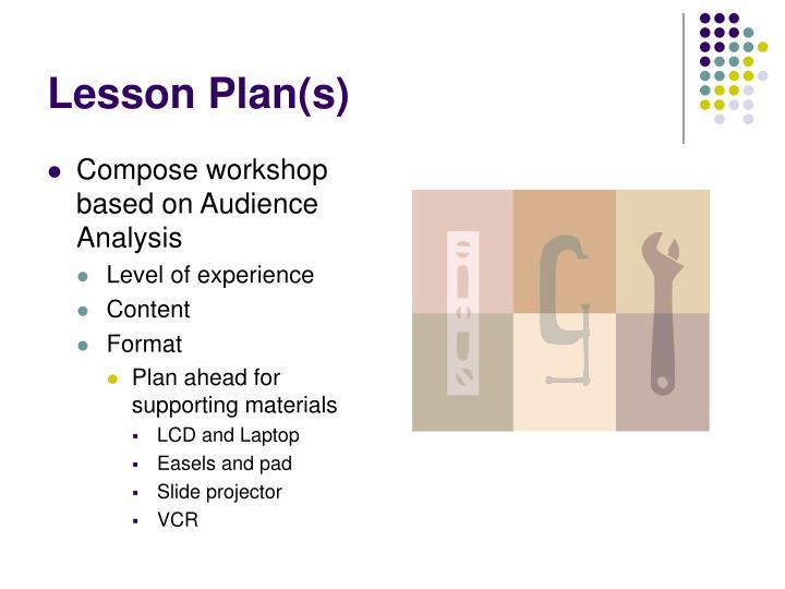 Lesson Plan(s)