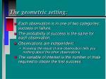 the geometric setting