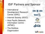 isif partners and sponsor