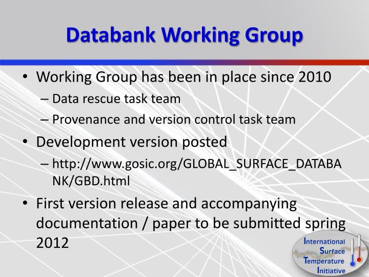 Databank Working Group