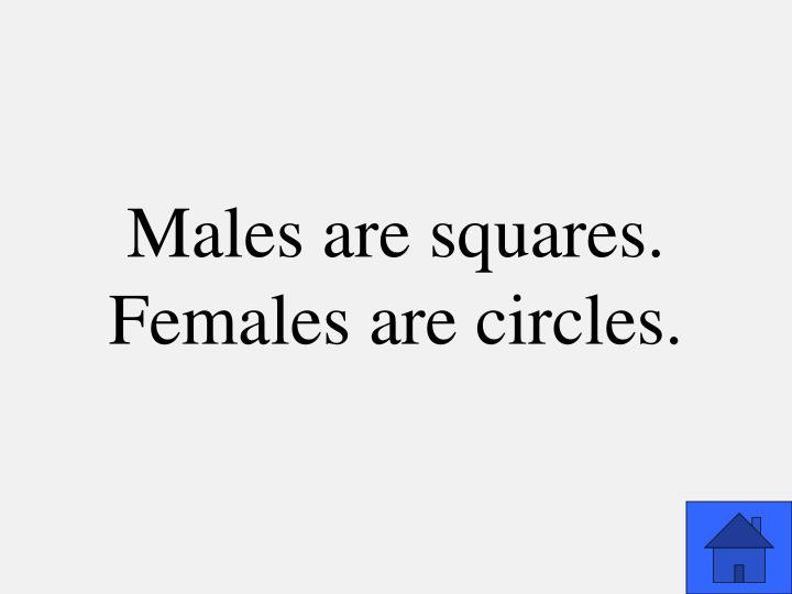Males are squares.