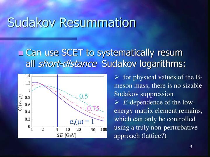Sudakov Resummation