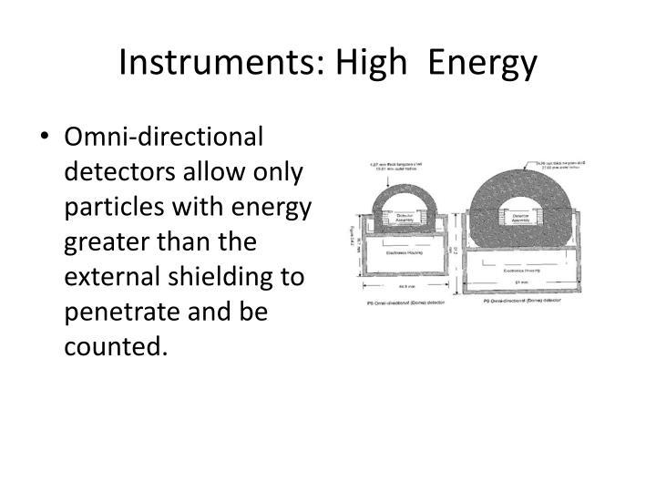 Instruments: High  Energy