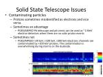 solid state telescope issues