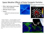 space weather effects of solar energetic particles1