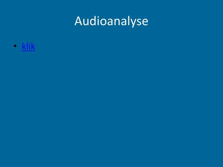 Audioanalyse