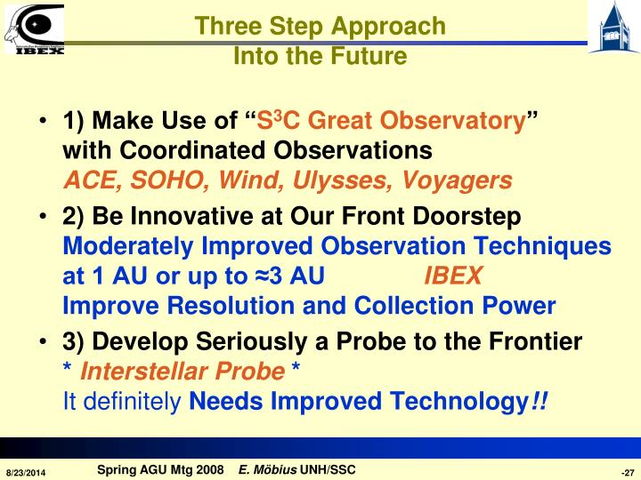 Three Step Approach