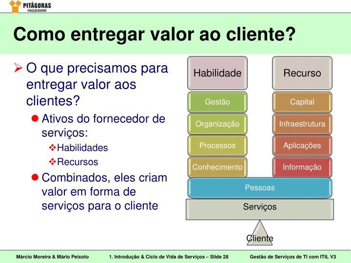Como entregar valor ao cliente?