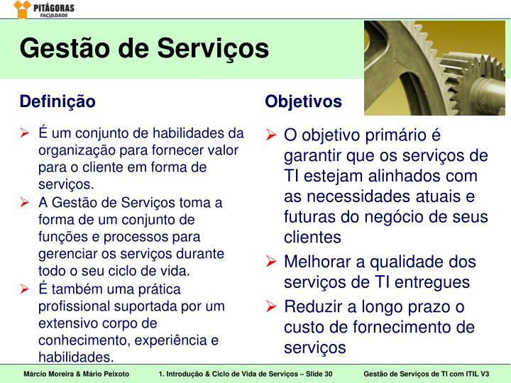 Gestão de Serviços