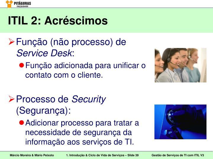 ITIL 2: Acréscimos