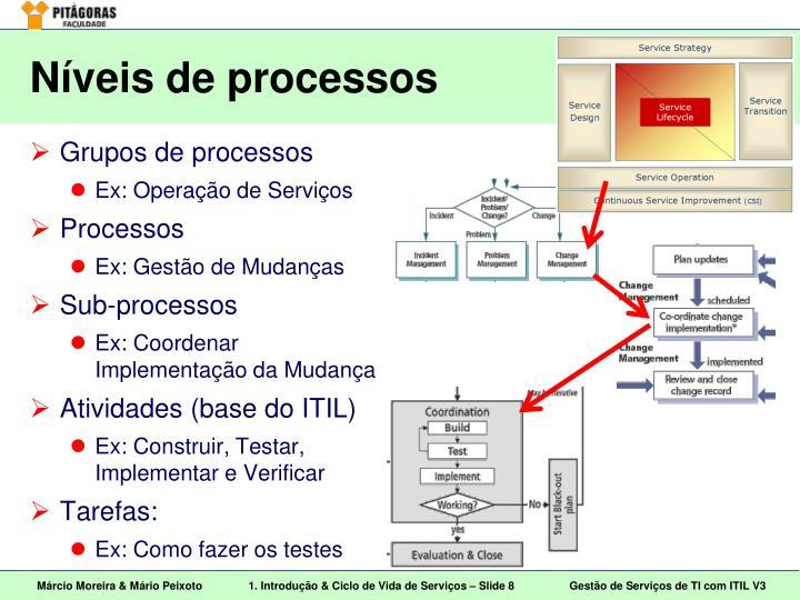 Níveis de processos