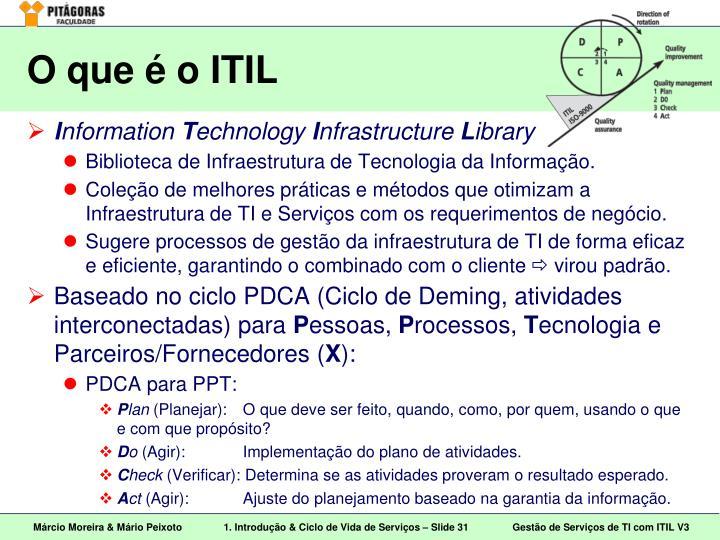 O que é o ITIL