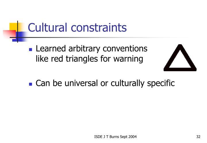 Cultural constraints