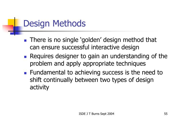 Design Methods