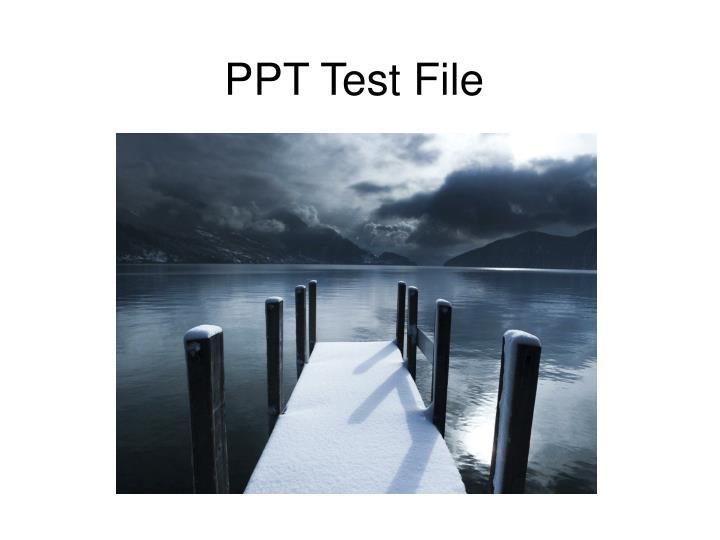 ppt test file