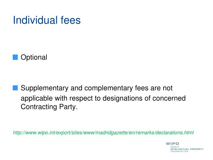 Individual fees