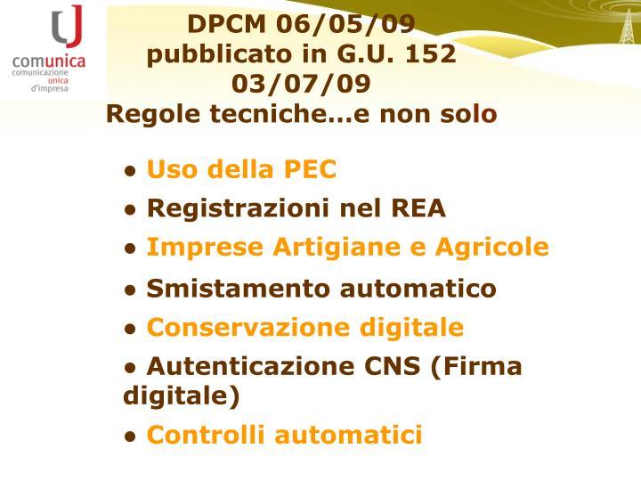 DPCM 06/05/09