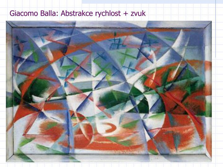 Giacomo Balla: Abstrakce rychlost + zvuk