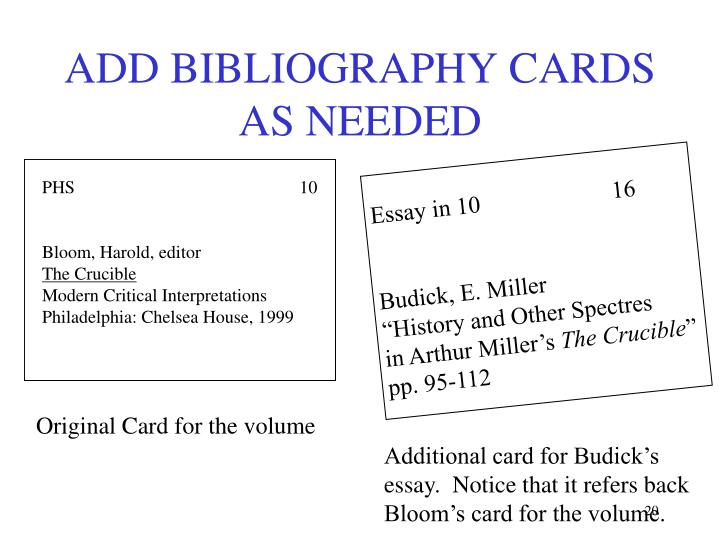 term paper bibliography cards