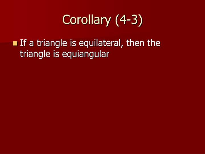 Corollary (4-3)