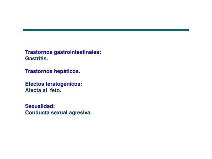 Trastornos gastrointestinales: