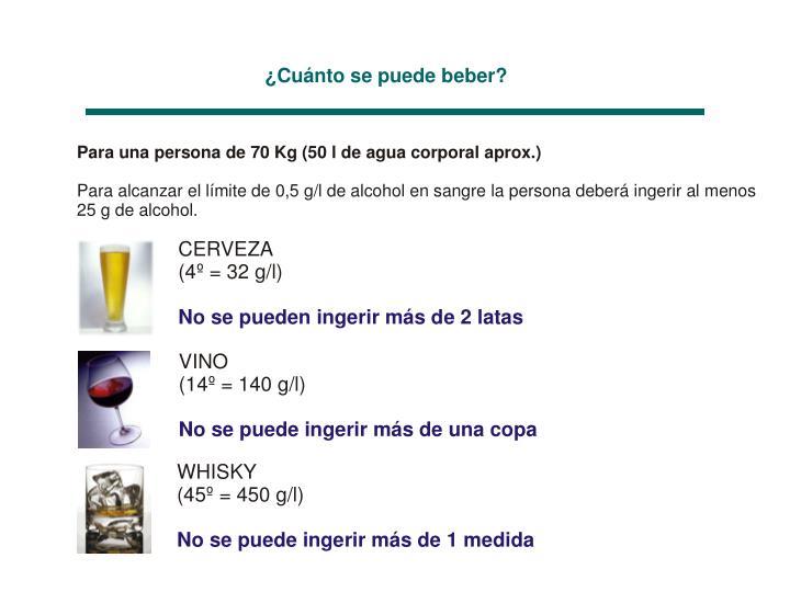 ¿Cuánto se puede beber?