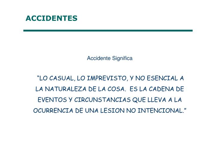 Accidente Significa