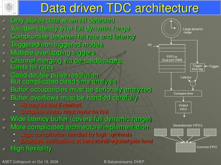 Data driven TDC architecture