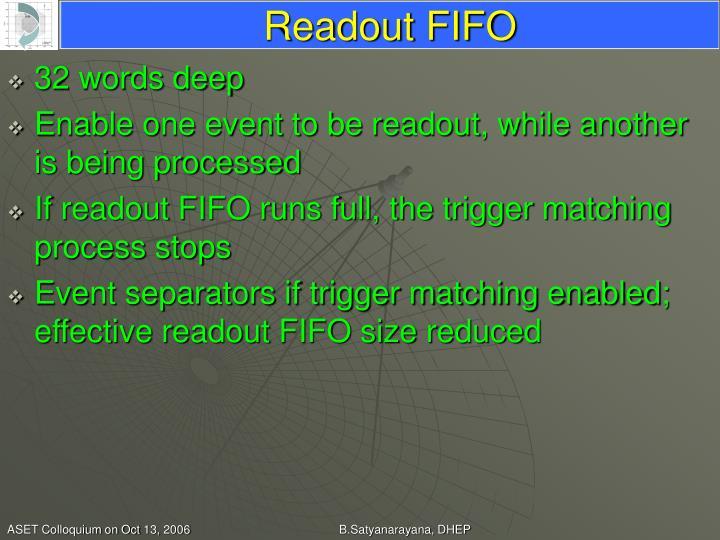 Readout FIFO