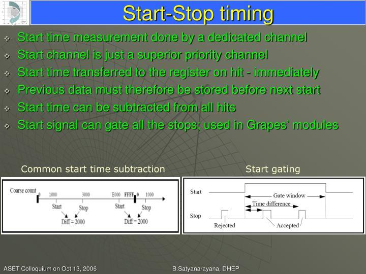 Start-Stop timing