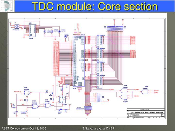 TDC module: Core section