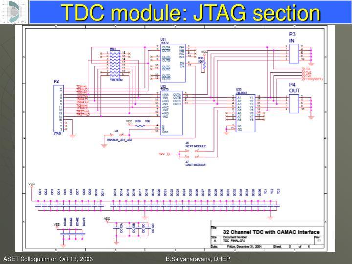TDC module: JTAG section
