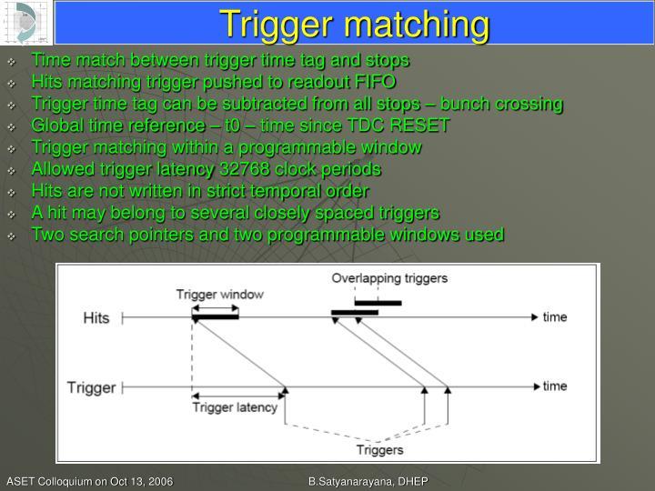 Trigger matching